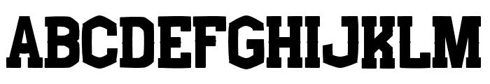 Boxing Regular Font LOWERCASE