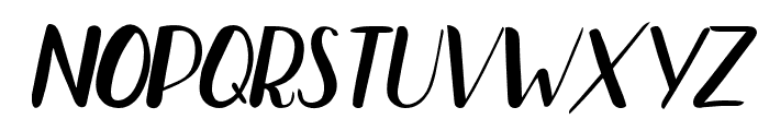Bradley Normal Normal Italic Font UPPERCASE
