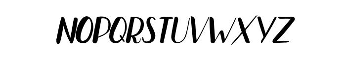 Bradley-NormalNormalItalic Font LOWERCASE