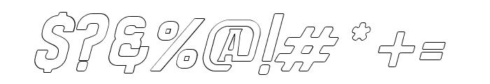 Bradley Outline Slant Font OTHER CHARS