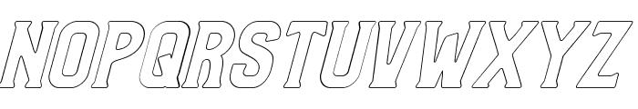 Bradley Outline Slant Font UPPERCASE