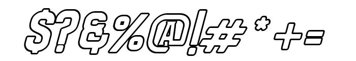 Bradley Outline Thick Slant Font OTHER CHARS