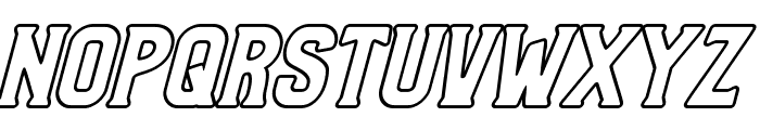 Bradley Outline Thick Slant Font UPPERCASE