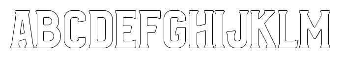 Bradley Outline Font LOWERCASE