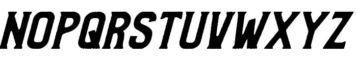 Bradley Rough Slant Font UPPERCASE