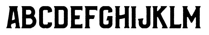 Bradley Rough Font UPPERCASE