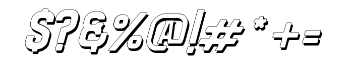 Bradley Shadow Slant Font OTHER CHARS