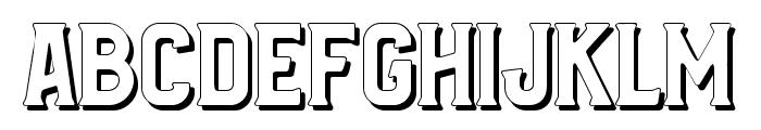 Bradley Shadow Font UPPERCASE