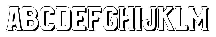 Bradley Shadow Font LOWERCASE
