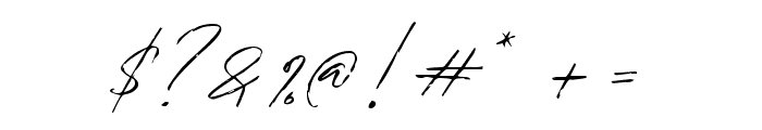 Bradley Signature Regular Font OTHER CHARS