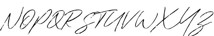 Bradley Signature Regular Font UPPERCASE