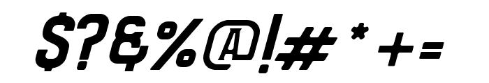Bradley Solid Slant Font OTHER CHARS