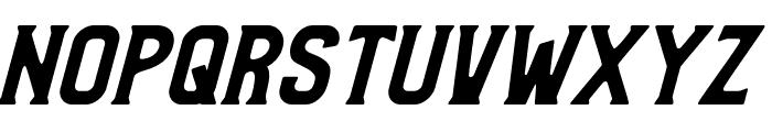 Bradley Solid Slant Font UPPERCASE