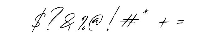 BradleySignature-Regular Font OTHER CHARS