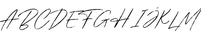 BradleySignature-Regular Font UPPERCASE