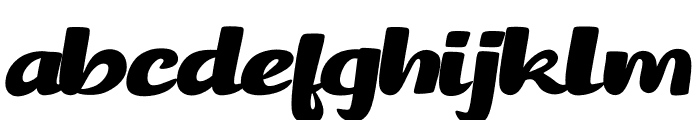 Brancho Font LOWERCASE