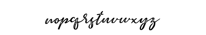 Brave Youth Rust Font LOWERCASE