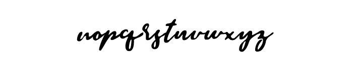 BraveYouth-Stamp Font LOWERCASE