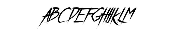 Breathe Karma Italic Regular Font UPPERCASE
