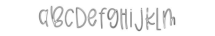 Breezily Outline Font LOWERCASE