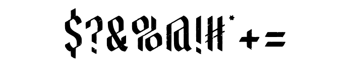 BrewHouse Aged Font OTHER CHARS