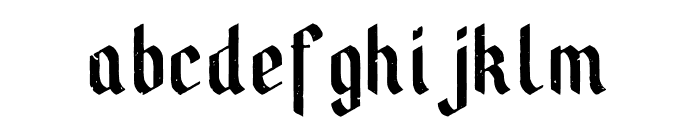 BrewHouse Aged Font LOWERCASE