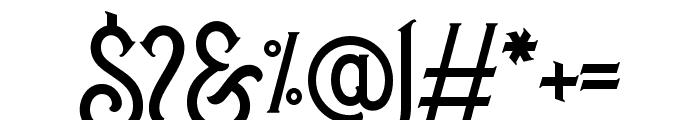 BrightonSpring-Regular Font OTHER CHARS