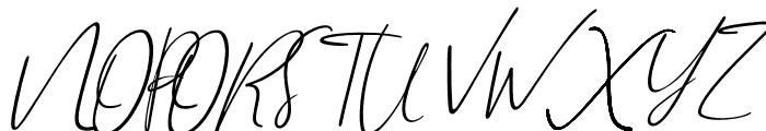 Brilliant Signature 1 Slant Font UPPERCASE