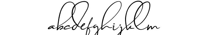 Brilliant Signature 1 Slant Font LOWERCASE