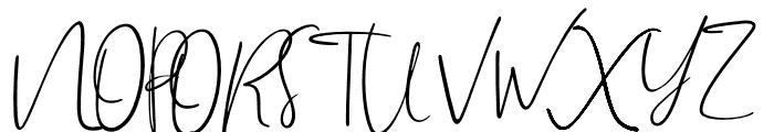 Brilliant Signature 2 Regular Font UPPERCASE