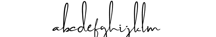 Brilliant Signature 2 Regular Font LOWERCASE