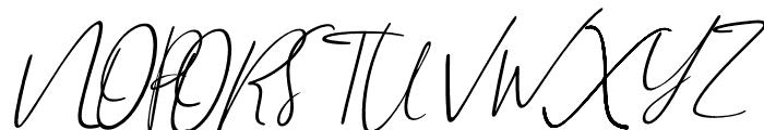 Brilliant Signature 2 Slant Font UPPERCASE