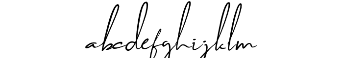 Brilliant Signature 2 Slant Font LOWERCASE