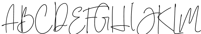 Brilliant Signature 3 Regular Font UPPERCASE