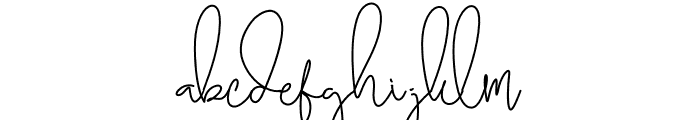 Brilliant Signature 3 Regular Font LOWERCASE