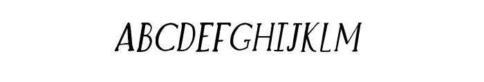 Brioche Italic Font UPPERCASE
