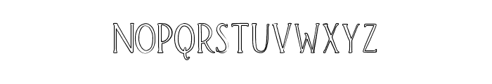 Brioche Outline Font UPPERCASE