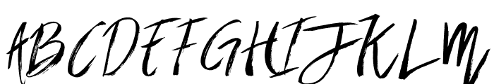Brownight-Italic Font UPPERCASE