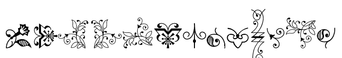Bruce Ornaments Collection Three Font UPPERCASE