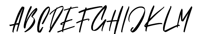 Brushelly Font UPPERCASE
