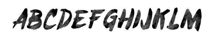 Brushy-ObliqueTracked Font UPPERCASE