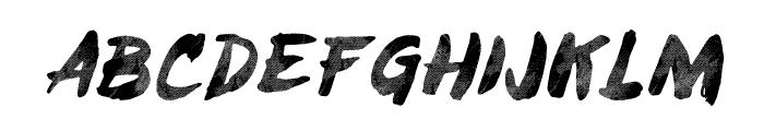 Brushy-ObliqueTracked Font LOWERCASE
