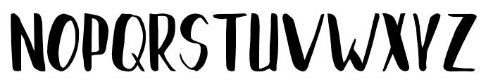 Brushylicious Font UPPERCASE