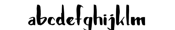 Brushylicious Font LOWERCASE