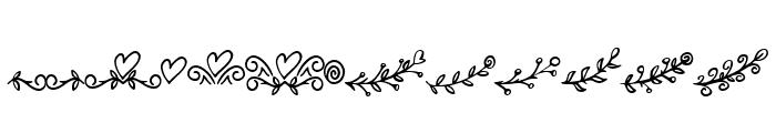 Bryan Kimberly Ornament Font UPPERCASE