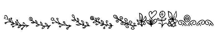 Bryan Kimberly Ornament Font LOWERCASE