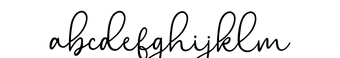 Bryan Kimberly Regular Font LOWERCASE