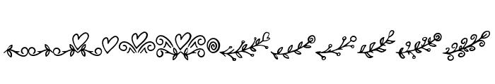 BryanKimberly-Ornament Font LOWERCASE