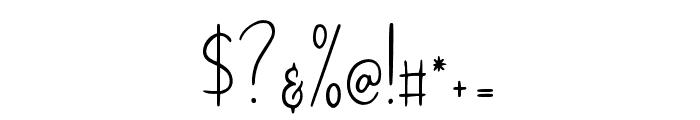 BryanKimberly-Regular Font OTHER CHARS