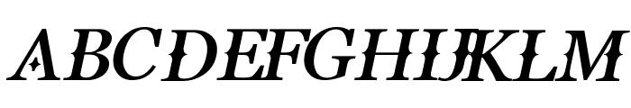 Buitenzorg Bold Italic Font UPPERCASE